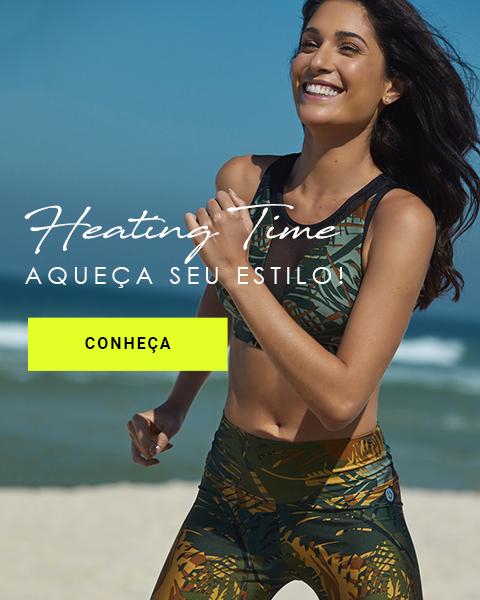 Legging Trilobal Amauá e Top Blu - Heating Time!